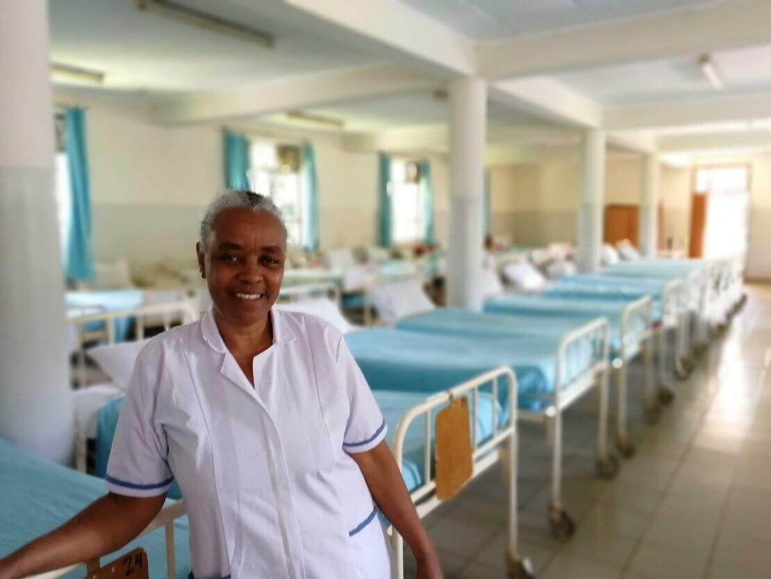 Sister Sara at Yirgalem Regional Fistula Hospital