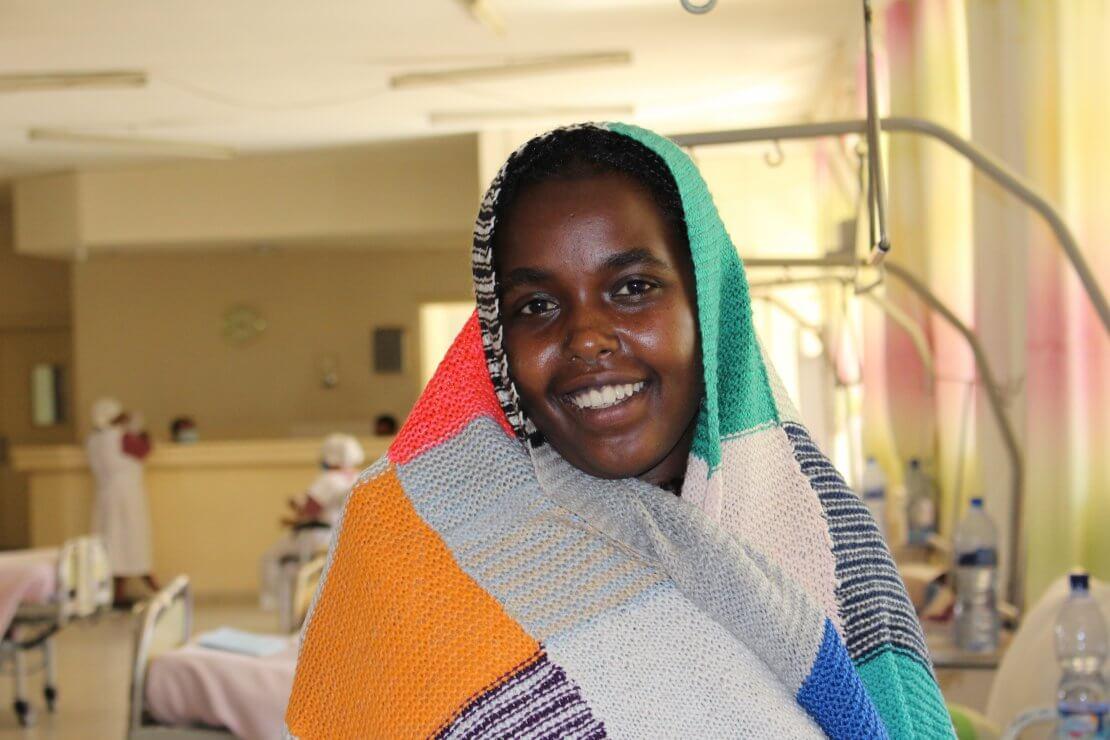 Fatuma, in the ward at Harar