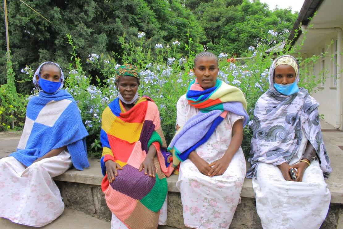 Mulu at Addis Ababa Fistula Hospital with other patients
